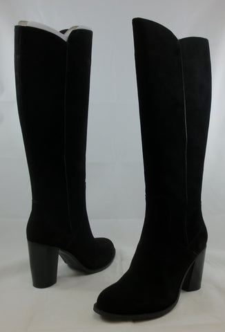 ADRIENNE VITTADINI Women's •Minuet• Boot - Black Oiled Suede - ShooDog.com