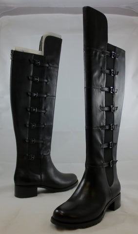 ADRIENNE VITTADINI Women's Tiger Boot - Black Soft Calf Leather - MSRP $230