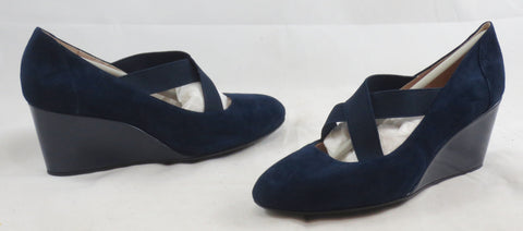 TARYN by TARYN ROSE Women's Karla Wedge - Navy Blue Suede - 6M - ShooDog.com