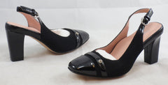 TARYN ROSE Women's Cabrini Slingback Pump - Black - 6M - ShooDog.com