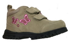 Step & Stride •Mariposa• Toddler Girls Hiking Boot - Taupe/Pink  EZ & Tie