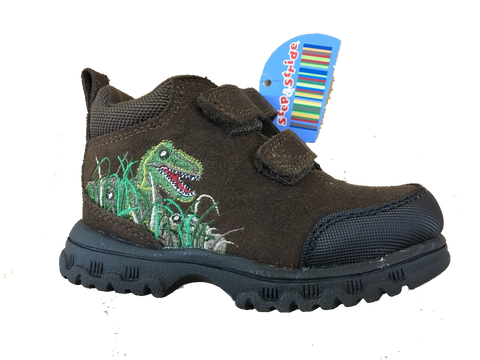 Step & Stride Dino EZ -NIB- Brown Toddler/Boys Hiking Boot •Multi Sizes• REG $36 - ShooDog.com