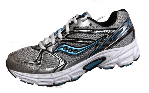 SAUCONY Women's Grid Cohesion 6 -Silver/ Lt. Blue- Running Shoe