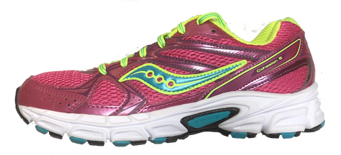 SAUCONY Women's Grid Cohesion 6 -Pink/Blue- Running Shoe •Wide Width• - ShooDog.com