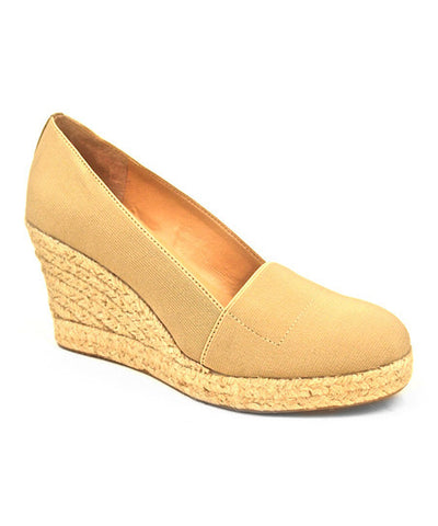 Womens's J.LITVACK Tobago •Natural Elastic• Raffia Wedge