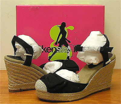 KENSIE GIRL Women's Keralisa Espadrille - Black Canvas - Multi SZ - NIB!!! - ShooDog.com