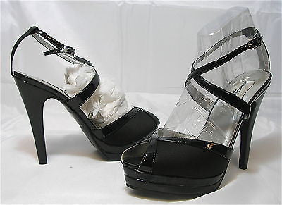 DYEABLES Women's Vegas - Black Satin/Patent - SZ 7.5M and 8M Only! - MSRP $75!