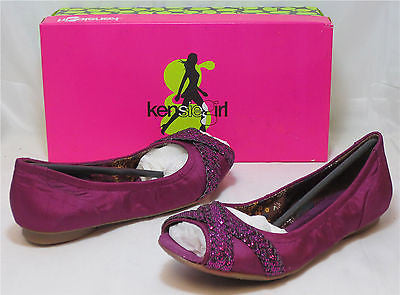KENSIE GIRL Women's January Flat - Bright Purple - Multi SZ NIB - MSRP $45