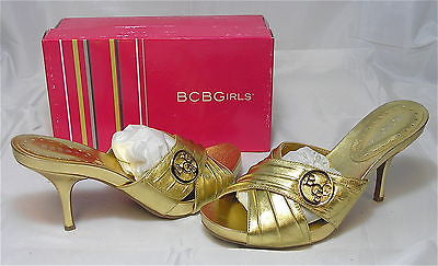 BCBGirls Pongo Sandal - Gold - Multiple SZ NIB - MSRP $90! - ShooDog.com