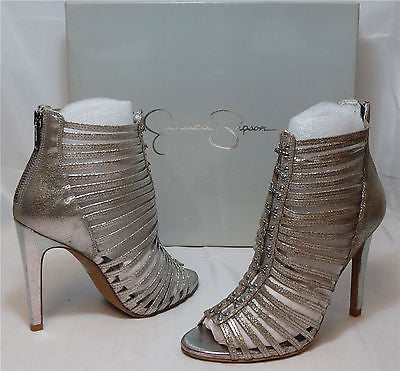 JESSICA SIMPSON Women's •Antioni• High Heeled Sandal - Tarnish Jupiter - ShooDog.com