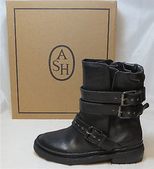 ASH ITALIA Women's Emmy Motorcycle Boot - Black - NIB - MSRP $385