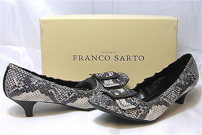 FRANCO SARTO Women's Mad Buckle Low Heel Pump - Python - NIB - ShooDog.com
