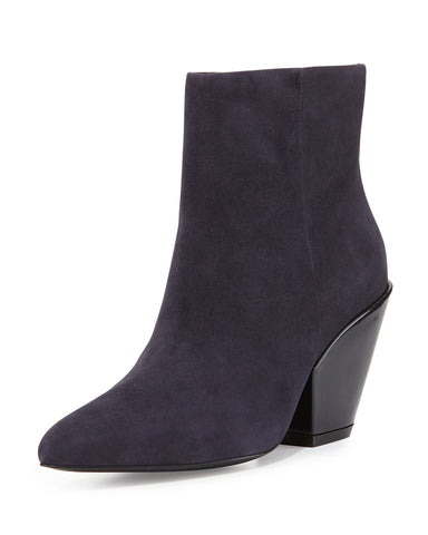 ASH Women's •Electra• Suede Ankle Bootie, Midnight - ShooDog.com