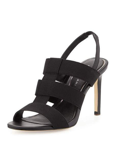 ELIE TAHARI  Womens Ithaca •Black• High Heel Stretch Caged Sandals - ShooDog.com