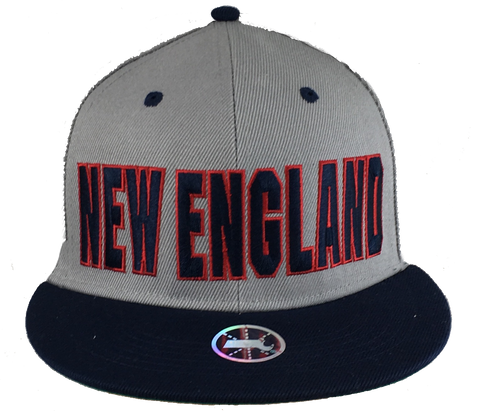 Adult's •New England Lettering• Snap-Back Cap - Patriots football Colors - ShooDog.com