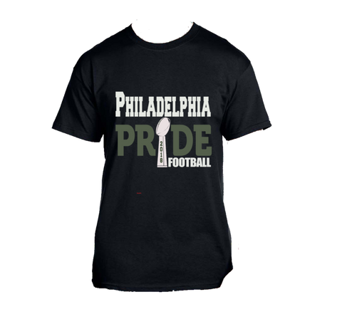 Adult's •Philadelphia Football Pride• Printed SS T-Shirt