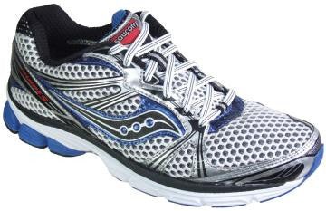 Men's Saucony Progrid Guide 5 •WHITE/BLACK/ROYAL• Running Shoe - ShooDog.com