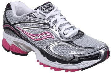 Women's Saucony ProGrid Guide 4 •SILVER/PINK• Running Shoe - ShooDog.com