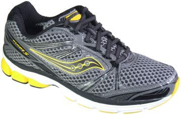 Men's Saucony Progrid Guide 5 •BLACK/GRAY/YELLOW• Running Shoe - ShooDog.com
