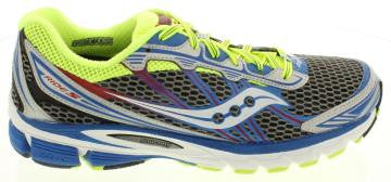 Mens Saucony ProGrid Ride 5 •Blue/Silver/Lime• Running Shoe - ShooDog.com