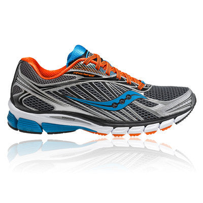 Mens Saucony ProGrid Ride 6 •Grey/Orange/Blue• Running Shoes - ShooDog.com