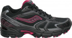 SAUCONY Women's Grid Cohesion TR4 -Black/Pink- Trail Running Shoe - ShooDog.com
