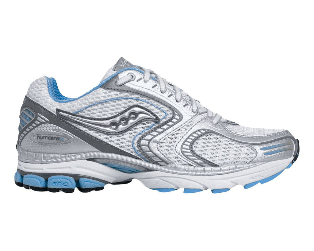Women's Saucony ProGrid  Hurricane 10 •White/Silver• Running Shoe  - MEDIUM & WIDE WIDTH