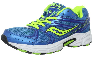 SAUCONY Women's Grid Cohesion 6 -Blue/Citron- Running Shoe - ShooDog.com