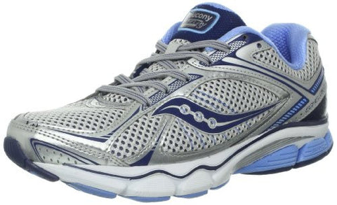Saucony Women's Echelon 3 •Silver/Blue• Running Shoe - ShooDog.com