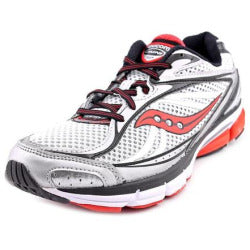 Men's Saucony Omni 12 •Black/Red/Silver•  Running Shoe - ShooDog.com