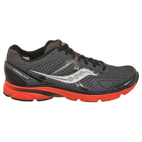 Men's Saucony ProGrid Mirage •Grey/Black/Red• Running Shoe
