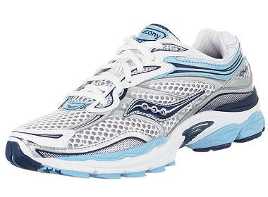 SAUCONY Women's Pro Grid  Omni 9 Stability •White/Silver/Blue• Running Shoe - Narrow width - ShooDog.com