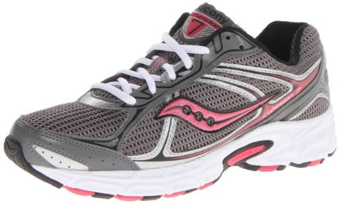 SAUCONY Women's Grid Cohesion 7 •Gray/Black/Pink• Running Shoe - Wide Width - ShooDog.com