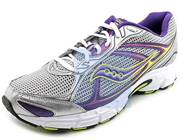 SAUCONY Women's Grid Cohesion 7 -Silver/Purple/Neon- Running Shoe - ShooDog.com