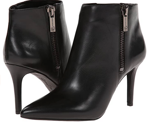 JESSICA SIMPSON Women's •Lafay• Pointed-toe Leather Ankle Boot - ShooDog.com