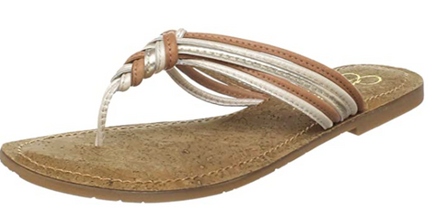 JESSICA SIMPSON Women's •Jobbi• Thong Sandal - Frost Leather