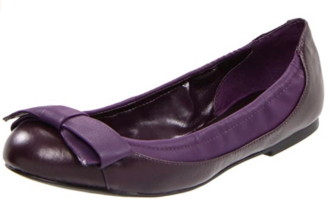 JESSICA SIMPSON Women's •Saru• Leather Bow Flat - ShooDog.com