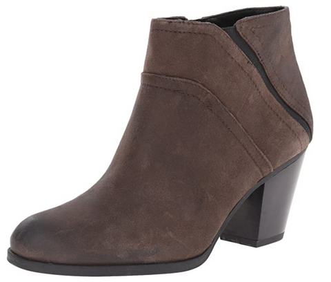 FRANCO SARTO Women's •Domino• Suede  Stacked Heel Bootie