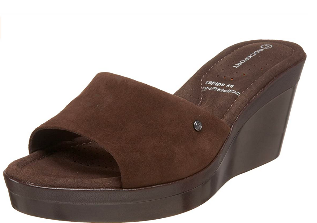 ROCKPORT Women's •RACHEL II ONE BAND• Slide Sandal - Brown - ShooDog.com