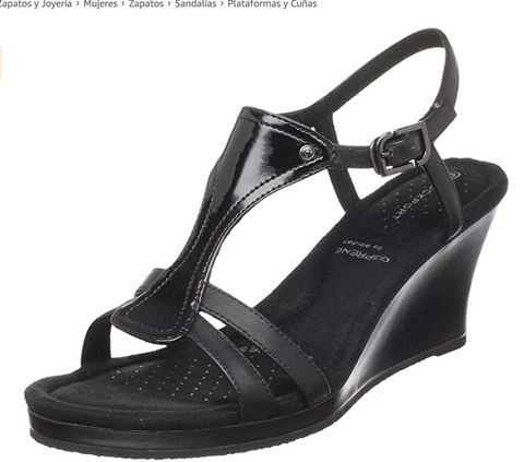 Women's Rockport •Emily• T-strap Wedge  Sandals