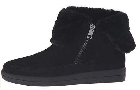 Women's EASY SPIRIT •Collngton• Side-zip Bootie - Black -