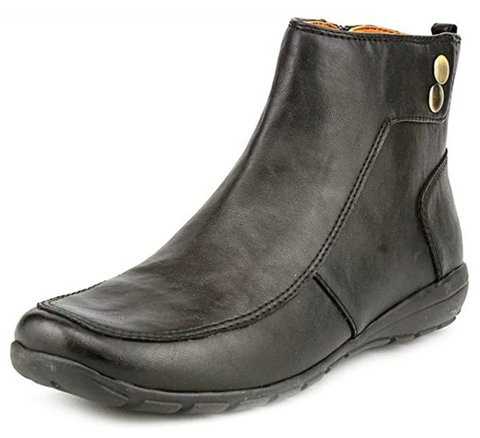 Women's EASY SPIRIT •Actout• Round Toe Ankle Boots - Black - ShooDog.com