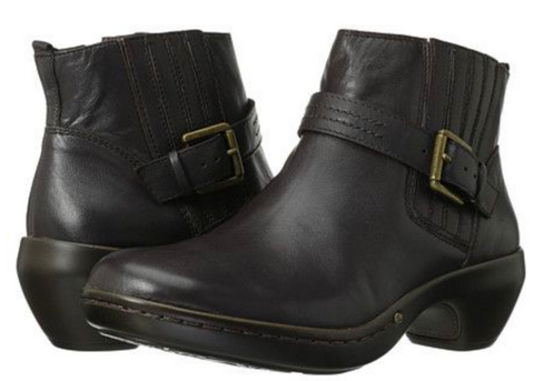 Women's EASY SPIRIT •Cavero• Side-zip Ankle Boots - Dark Brown