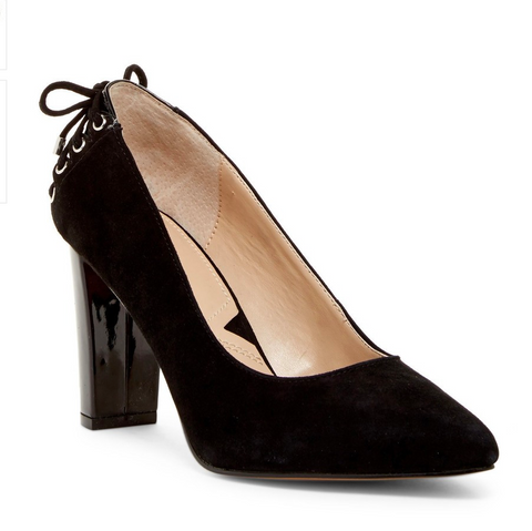 ADRIENNE VITTADINI Women's •Ninree• Pointed Toe Pump - Black - ShooDog.com