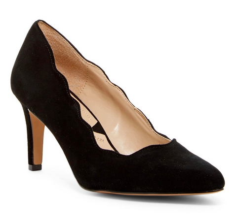 ADRIENNE VITTADINI Women's •Sondra• Almond Toe Pump - Black - ShooDog.com