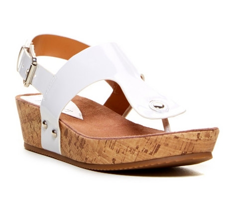 ELLEN TRACY Women's Inga Paltform Sandal  - White - - ShooDog.com