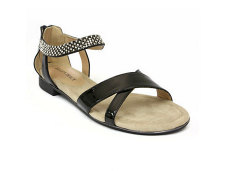 ELLEN TRACY Women's Aerial Sandal - Black - - ShooDog.com