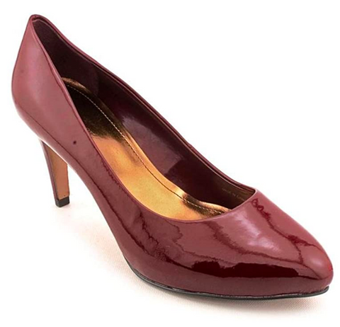 ELLEN TRACY Women's •Clover• Pump  - Red Patent - ShooDog.com