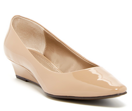 Women's Adrienne Vittadini •Prince• Pointed-toe  Slip-on Wedge