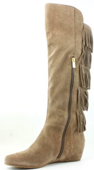 ISOLA Women's Tavora •Brown Suede• Tall Fringe Boots
